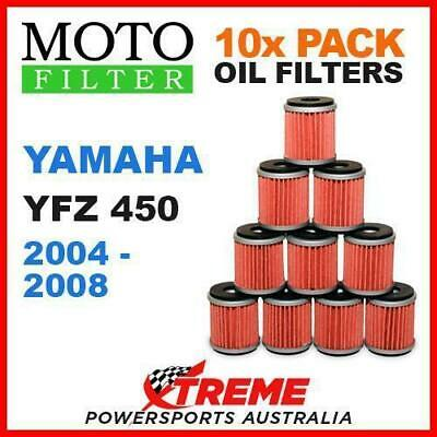 10 Pack Moto Mx Oil Filters Yamaha Yzf 450 Yfz450 2004-2008 Atv Off Road Bike