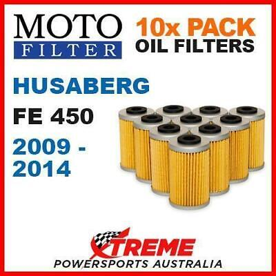 10 Pack Moto Mx Oil Filters Husaberg Fe 450 Fe450 2009-2014 Enduro Dirt Bike