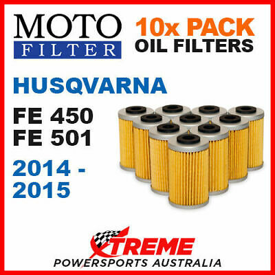 10 Pack Moto Mx Oil Filters Husqvarna Fe450 Fe501 Fe 450 501 2014-2015 Dirt Bike