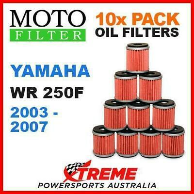 10 Pack Moto Mx Oil Filters Yamaha Wr250F Wr 250F Wrf250 2003-2007 Enduro Bike