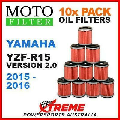 10 Pack Moto Mx Oil Filters Yamaha Yzfr15 Yzf R15 Version 2 2015-2016 Super Bike