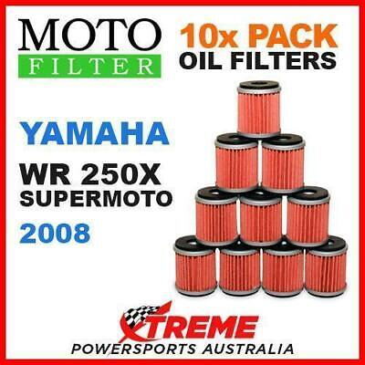 10 Pack Moto Mx Oil Filters Yamaha Wr250X Wr 250X Super Moto 2008 Bike