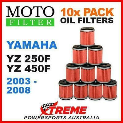 10 Pack Moto Mx Oil Filters Yamaha Yz250F Yz450F Yzf250 Yzf450 2003-2008 Bike