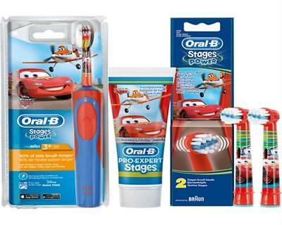 Braun Oral-B Stages Power Akku Zahnbürste D12.513.K Spar-Set 2 CARS Planes