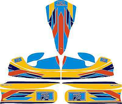 2015 FA ALONSO STYLE FULL KART STICKER KIT TO FIT M4 B/WORK KARTING JakeDesigns
