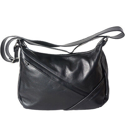b009d9a932 Shoulder Bag Italian Genuine Leather Hand made in Italy Florence 3014 bk