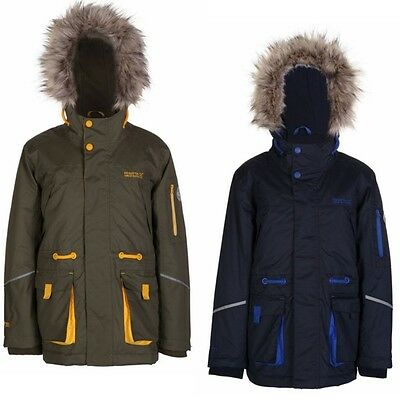 RRP £60!! BOYS REGATTA THERMOGUARD INSULATED WATERPROOF PARKA JACKET Rkng