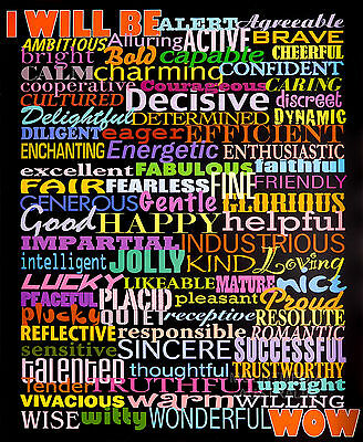 (LAMINATED) I WILL BE POSTER (50x40cm) MOTIVATIONAL NEW LICENSED ART