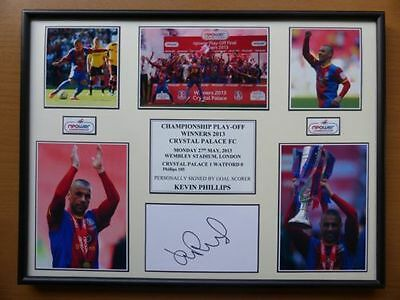 Blackpool 2013 Play-Off Winners Display Signed by Kevin Phillips