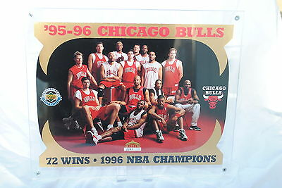 1996 Upper Deck Chicago Bulls Limited Edition 8x10 inch Die-Cut Card & D/Case