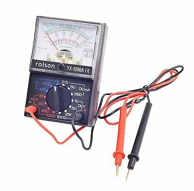 Rolson Analogue Multimeter / Multitester Electrical Circuit Tester AC DC Voltage