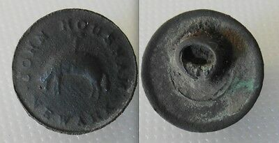 Rare Collectable Newark - John Housham / North Nottingham Button with Loop.