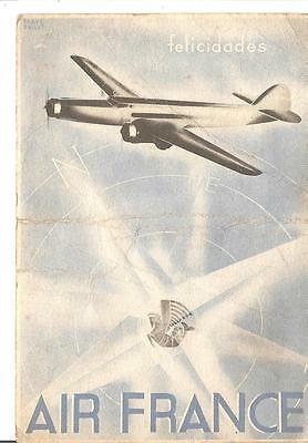 France: Carte Postale Aviation Air France 1937 Uruguay/france Voir 2 Photos