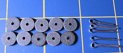 """For Jointed Teddy Bear = 10 - 3/8"""" Hardboard Discs - 5 Cotter Pins"""