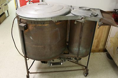 Antique Easy Copper Chrome Brass Electric Washing Machine R-49459