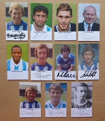 11 different Brighton signed autograph cards (5134)