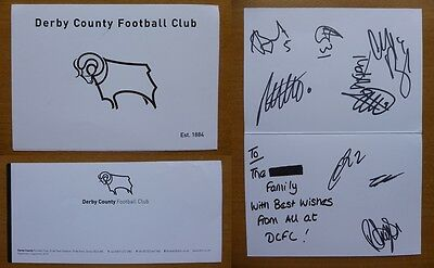 2014-15 Derby County Multi Signed card (5365)