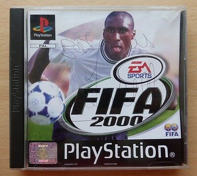 Sol Campbell Signed Fifa 2000 Playstation Game - Arsenal Spurs England (7074)