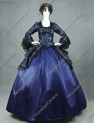 Marie Antoinette Fairytale Masquerade Brocade Witch Cosplay Dress Costume N 143