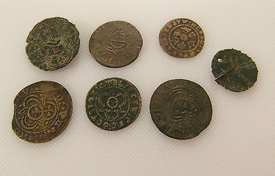Collectable Lot Of 7 Jettons Tokens / Coins / Bargain Lot