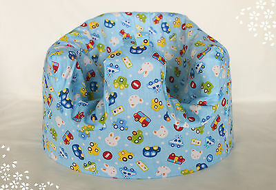 *NEW DESIGN'  Bumbo 100% Cotton Seat Cover with harness slots 'Vroom Vroom'
