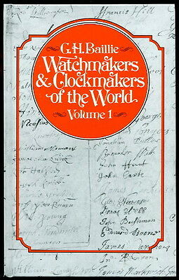 Baillie WATCHMAKERS & CLOCKMAKERS of the World VOLUME I 3rd Ed 1998 HC Horology