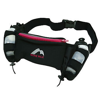 More Mile Endurance Adjustable Two Bottle Hydration Belt Running Waist Bag