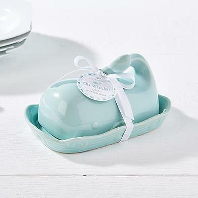 New WHALE SHAPED BUTTER DISH in Duck Egg Blue Ceramic - Kitchen Home Gift