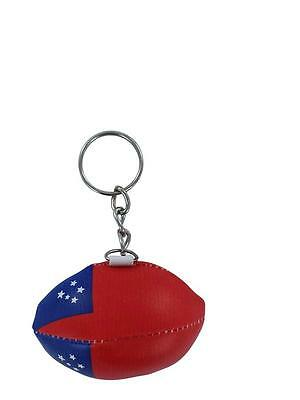 Keychain Mini rugby ball tonga key chain ring flag key ring cute
