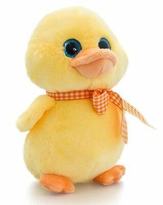 Keel Toys YELLOW DUCK with SPARKLE EYES 20cm - Standing Easter Duck