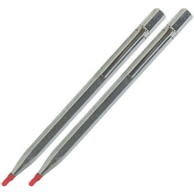 2 x Scribing Tool Tungsten Carbide Point Tip Engineers Scriber Detail Craft NEW