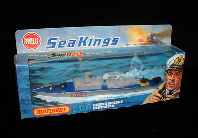 Matchbox Seakings K-308-A Guided Missile Destroyer Vintage 1976 New & Boxed Rare