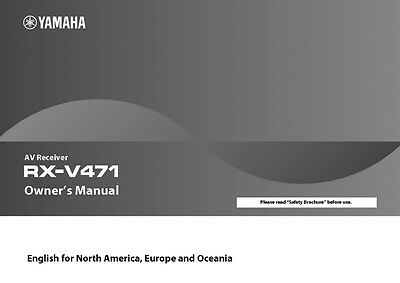 Yamaha RX-V471 Receiver Owners Manual