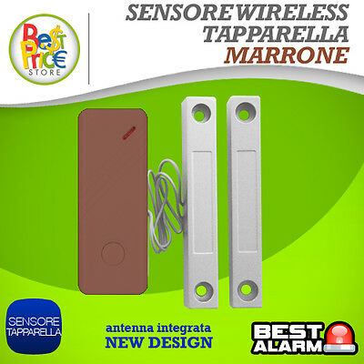 Sensore Wireless Tapparella Marrone