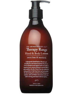 NEW The Aromatherapy Company Therapy Hand Lotion 500ml Lime & Mandarin
