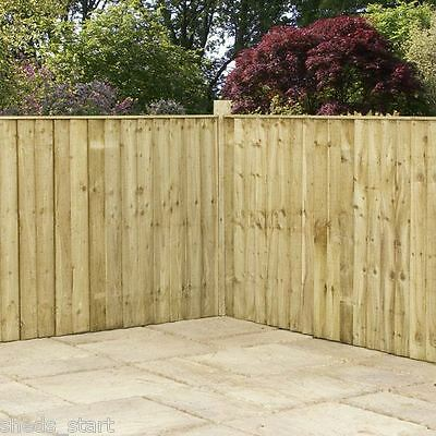 Wooden Pressure Treated Feather Edge Garden Fencing Panels 6ft 5ft 4ft 3ft