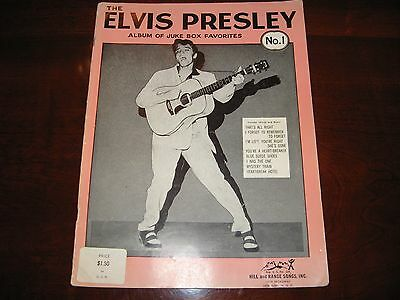1956 Elvis Presley Juke Box Favorites Music Book #1 That's All Right and more