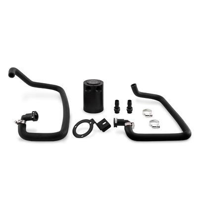 Mishimoto Baffled Oil Catch Can Kit - fits Ford Mustang 2.3L EcoBoost - Black