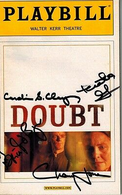 Doubt Cast Sighed Broadway Playbill - Cherry Jones