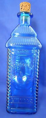 Vintage Blue Bottle Wheaton NJ Glass Berring's Apple Bitters 9.25 Inches