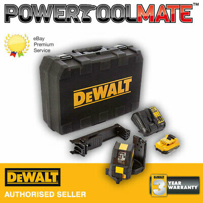 Dewalt DCE088D1G 10.8v Self Leveling Cross Line Green Laser - 1x 2.0Ah Battery