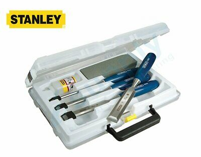 STANLEY Chisel Set 5002 Series + Oil & stone 6pc 0-16-130