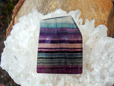 Purple Flourite Rainbow Polished Slice-Exceptional Piece-Good for Balancing