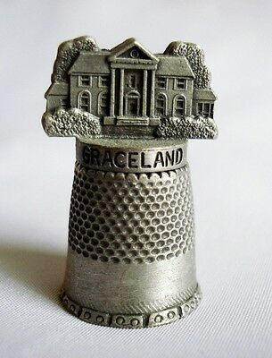 Collectible Graceland Pewter Thimble