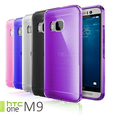 Slim Clear TPU Transparent Silicone Gel Soft Skin Case Cover For HTC One M9
