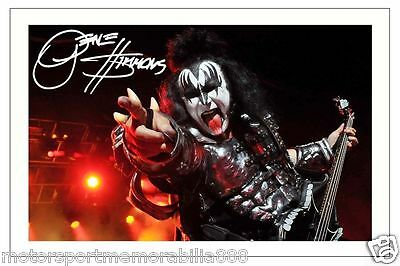 Gene Simmons Signed Photo 6X4 Print Autograph Kiss