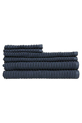 NEW Vue Pronto 6 Piece Towel Pack Navy