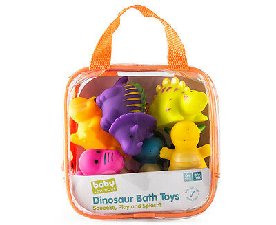 Baby Solutions 6-Piece Dinosaur Bath Toy Set