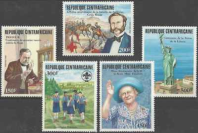 Timbres Centrafrique 672/6 ** lot 10660