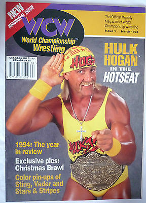 Wcw Magazine March 1995 / Issue 1 / Inaugural Issue With Sting Poster